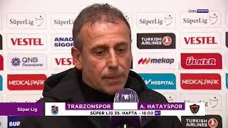 Trabzonspor I Abdullah Avcı'nın Hatayspor maçı öncesi açıklamaları